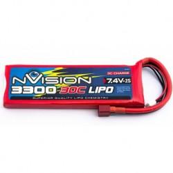 Batteria LiPO 2S NVISION 7.4V 3300mAh 30C  Deans