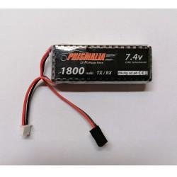 Batteria LiPo 7.4V 1000 mAh 8C per TX - RX attacco JST