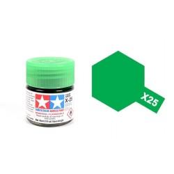 TAMIYA 81525 Verde Chiaro x-25 Clear Green Acrilico