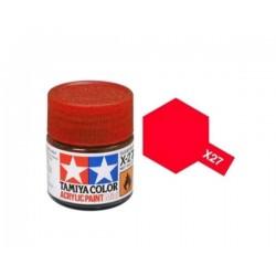 TAMIYA 81527 Rosso Chiaro x-27 Clear Red Acrilico
