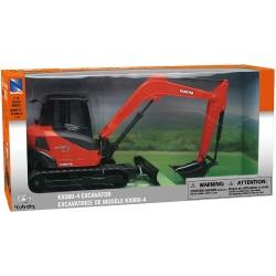 KUBOTA KX080-4 EXCAVATOR 1:18 Scale BY NEW RAY TOYS Construction ORANGE Toy