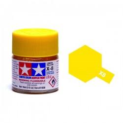 TAMIYA 81508 Mini x-8 Lemon Yellow Giallo Acrilico