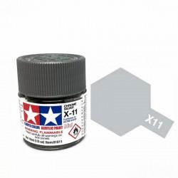 TAMIYA 81511 Argento Cromato x-11 Chrome Silver Acrilico