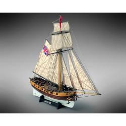 Kit montaggio nave in legno Barca MAMOLI HUNTER 1797 British Armed Cutter 1/72